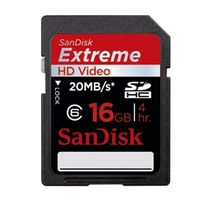 Sandisk Extreme HD Video SDHC Class 6 16GB